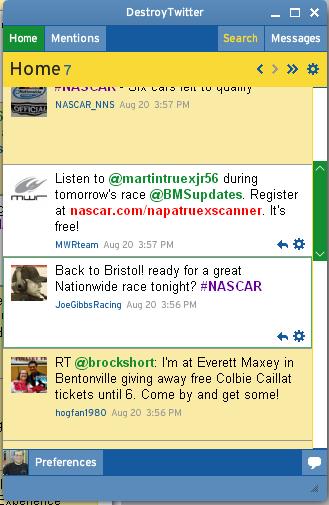 mrheadrick's DestroyTwitter 2.X NASCAR theme